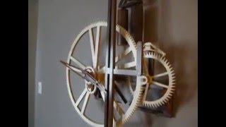 One Wheel Wooden Gear Clock