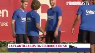 Primer día de entrenamiento de #Griezmann y #frenkie de Jong con el #Barcelona