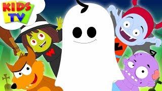 Five Little Monsters Halloween Nursery Rhymes | Songs For Kids & Children By Kids Tv