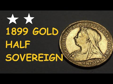1899 GOLD HALF SOVEREIGN #numismatics #coins