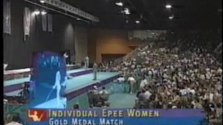 Fencing : 1996 Olympics Epee Women FINAL  Barlois (FRA) vs Flessel (FRA)