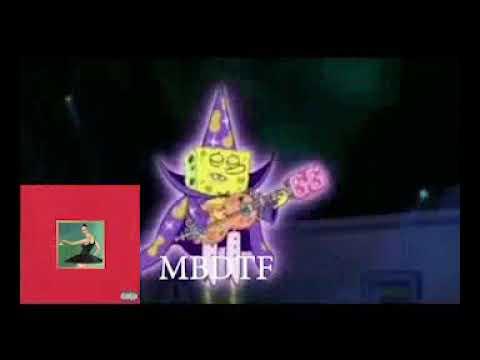 Kanye West albums portrayed by Spongebob