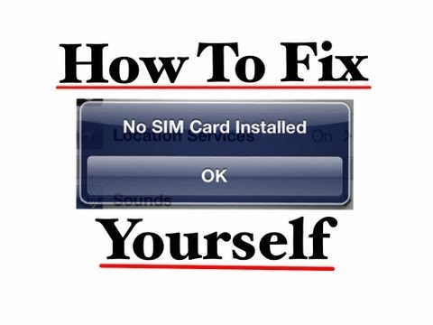 How to fix No sim installed and No service errors on all iPhone iPad models