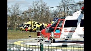 [HD] Christoph 48 und Christoph 92 Landung und Start am Uniklinikum Greifswald
