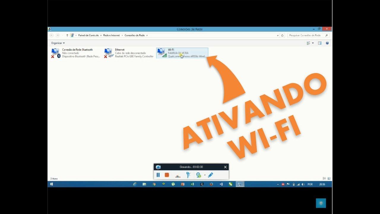 Como Ativar Wi Fi Do Computador Youtube