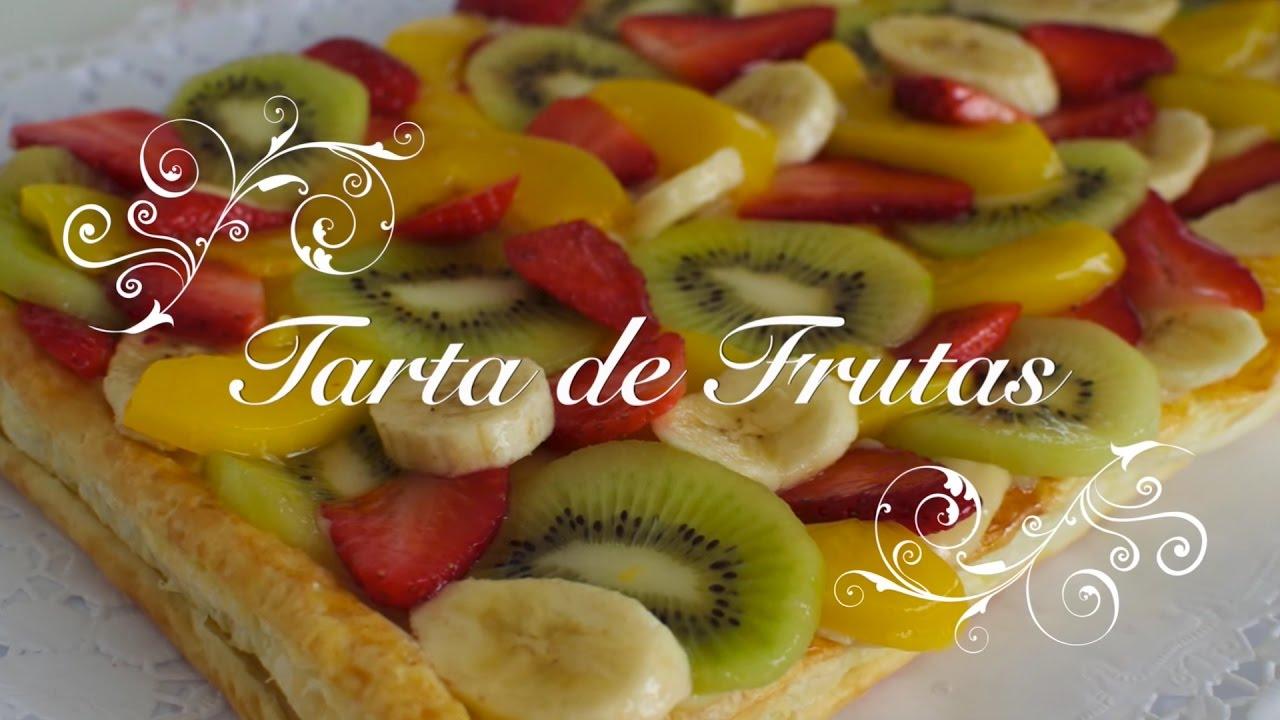 Tarta De Frutas Con Crema Pastelera Tartaletas De Frutas Con Crema Pastelera Pastel De Frutas Youtube
