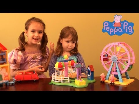 Peppa Pig in Amusement Park Story with Princess Sofia Royal Family and Dinosaurs