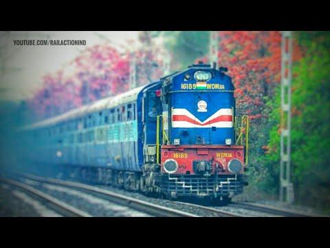 Barauni-LTT Mumbai Special with Beautiful Erupting Alco on Beautiful Rainy Day  Indian Railways