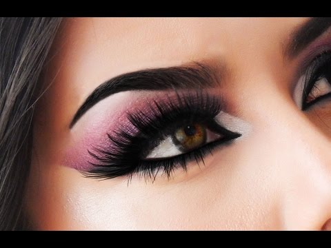 Pink an Black smokey eye / Alyssa Edwards inspired makeup tutorial