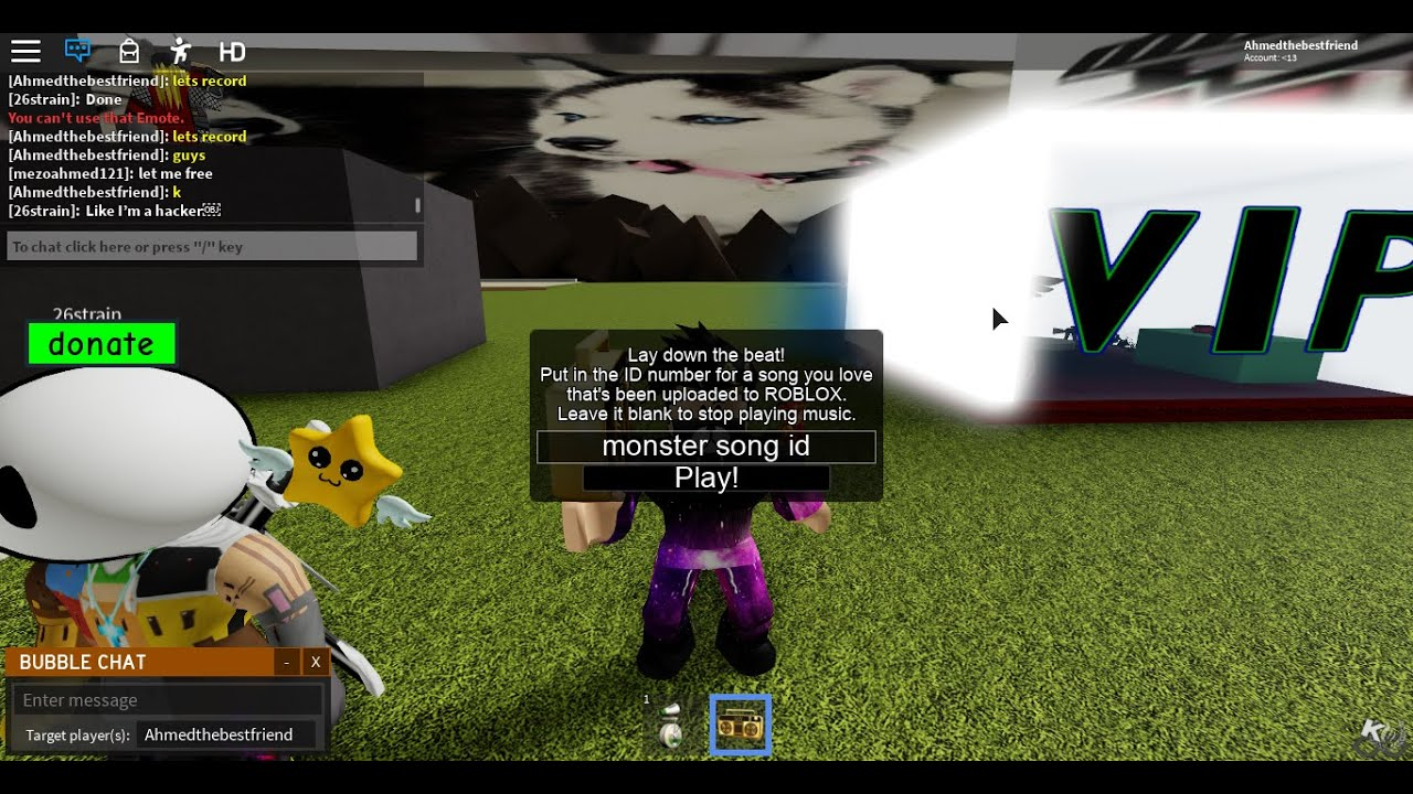 Roblox Nightcore Monster Id Song Code With The Gang Youtube
