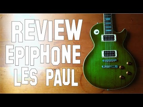 review epiphone les paul standard limited edition green flame youtube. Black Bedroom Furniture Sets. Home Design Ideas
