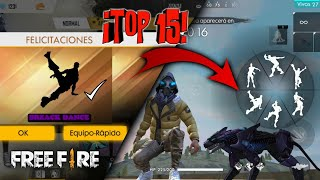 TOP 15 EMOTES YOU SHOULD HAVE FREE FIRE! / *FORTNITE EMOTES*