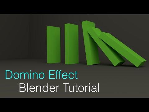 Domino Effect Blender Beginner Tutorial Rigid Body