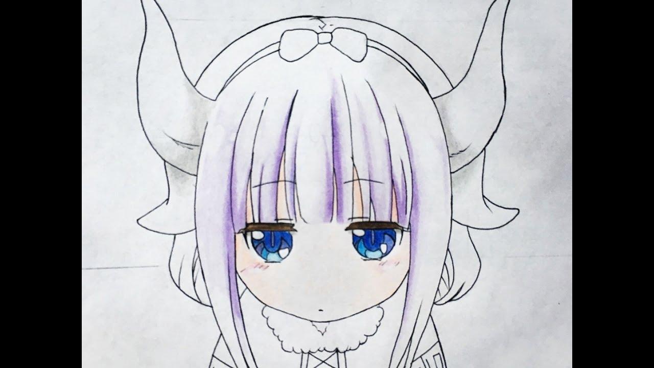 How to draw Kanna Kamui - YouTube