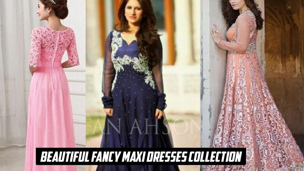 New Beautiful Fancy Maxi Dresses Collection 2018 Designs in Pakistan ... 5a49f54cc