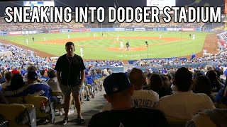 SNEAKING INTO LA DODGERS GAME