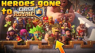 Clash of Clans HEROES are MOVING to Clash Royale!? Archer Queen + Barb King moving to Clash Royale