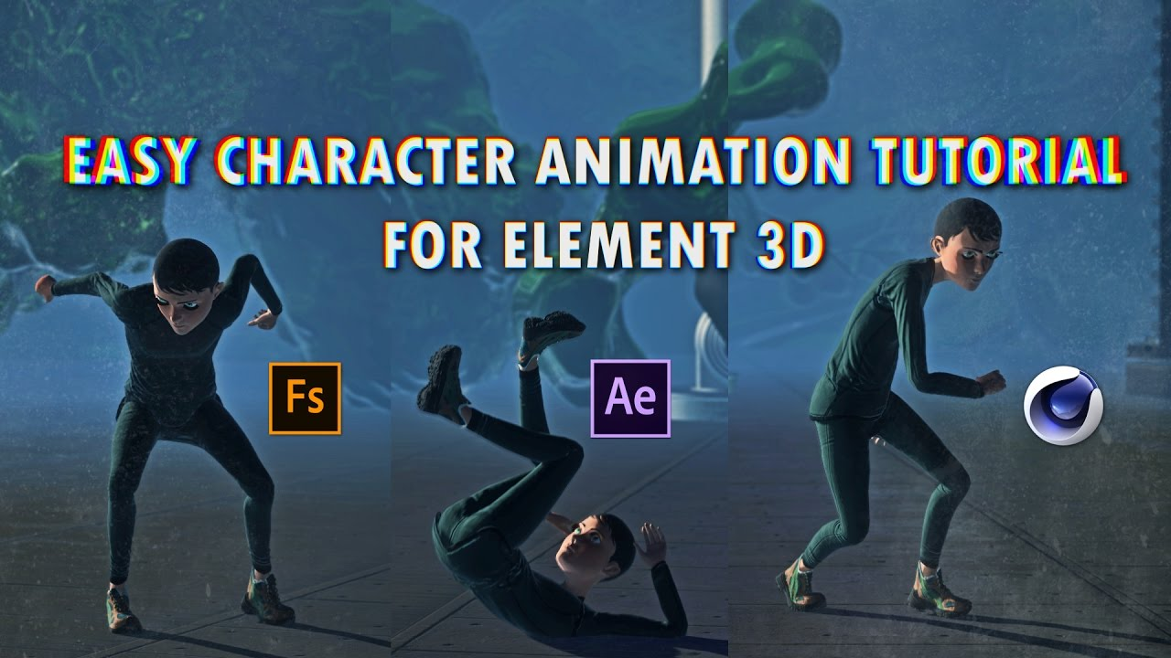 EASY Character Animation TUTORIAL For Element 3D