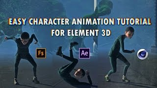 Gambar cover EASY Character Animation TUTORIAL For Element 3D