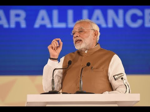 PM Narendra Modi addresses at 'International Solar Alliance' Conference in New Delhi