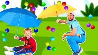 Rain Rain Go Away Song #3 | Mirik Yarik Nursery Rhymes & Kids Songs