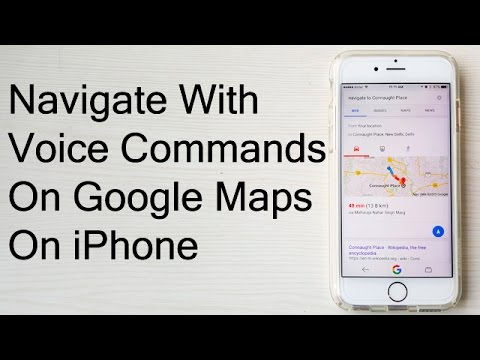 How To Navigate Using Voice Commands On Google Maps On iPhone- Tutorial Video