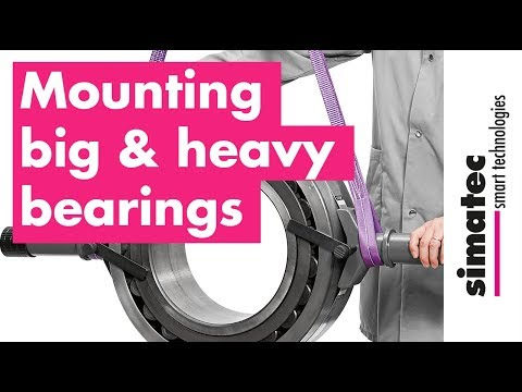 Mounting a big and heavy bearing
