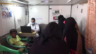 العيادات المتنقلة للهلال الأحمر الإماراتي تواصل تقديم الخدمات الطبية لمناطق الساحل الغربي