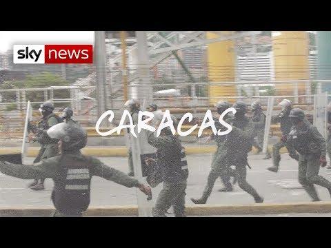 Shot at by police in Venezuela