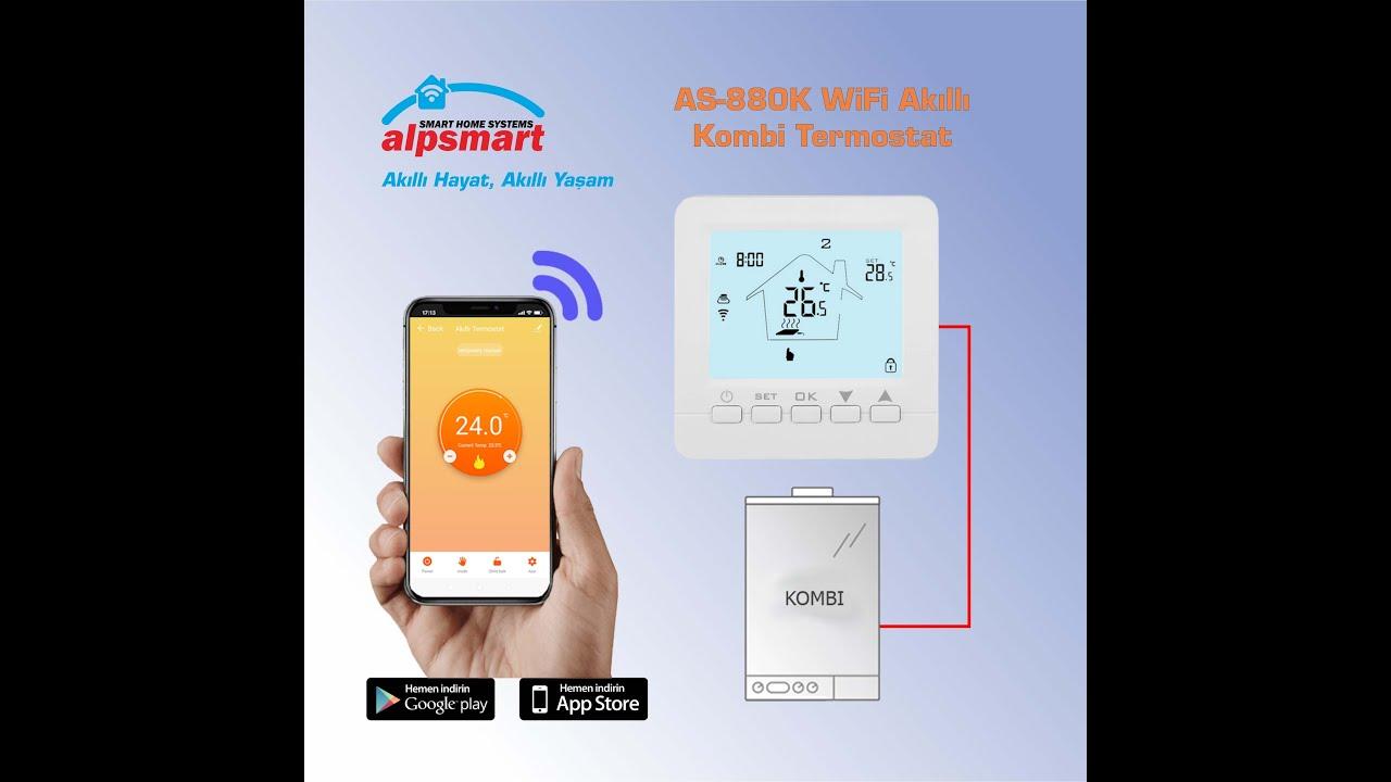 AlpSmart  Wi-Fi Akıllı Kablolu Oda Termostatı