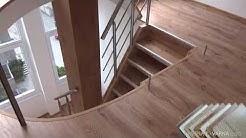 Нестандартна облицовка на стълбище с ламиниран паркет
