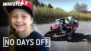 12-Year-Old Motorcyclist Races Vs. PROS!