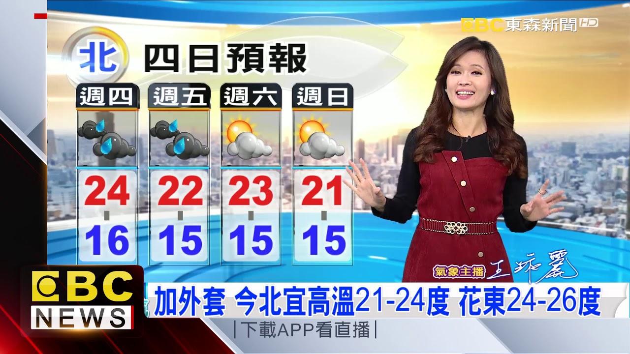 氣象時間 1081219 早安氣象 東森新聞