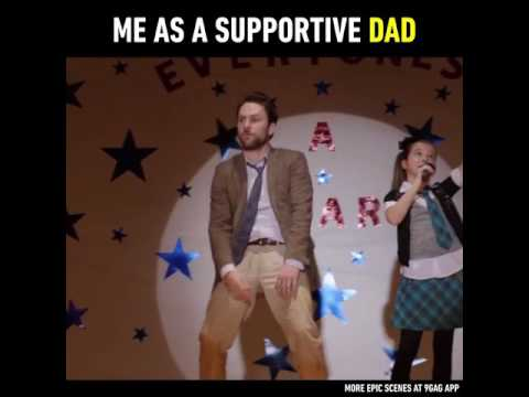 Charlie  Day As   a Supportive Dad