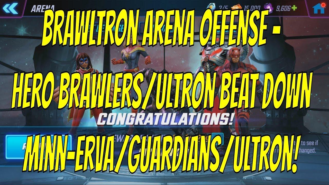 Brawltron Arena Team - Hero Brawlers/Ultron Beat Down Minardians/Ultron! -  Marvel Strike Force