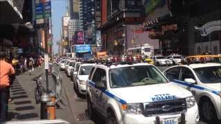 NYPD Mobilizing Units For Possible Anti Terror Surge Drill & Communication Division Command Post