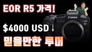 캐논 EOS R5 가격 4천 달러 미만!? 캐논 미러리…