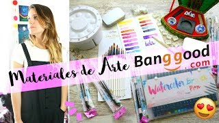 UNBOXING Y REVIEW DE MATERIALES ARTÍSTICOS BANGGOOD | Acuarelas, Caligrafía China y más