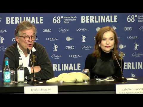 Isabelle Huppert et Benoît Jacquot EVA conference de presse Berlin