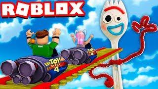 MONTAÑA RUSA de FORKY en ROBLOX !! | Roblox Toy Story 4 Rollercoaster