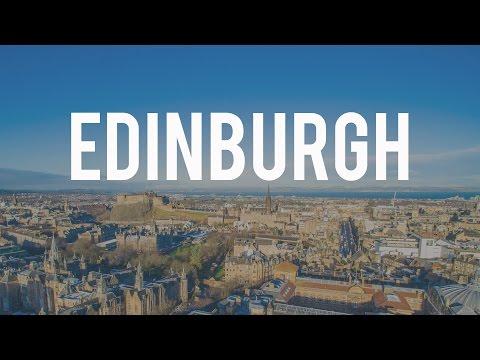 Edinburgh University Drone and City Skyline Aerial