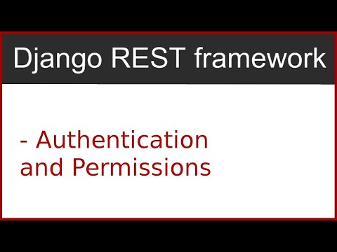 7 | Authentications and Permissions in django rest framework | By Hardik Patel