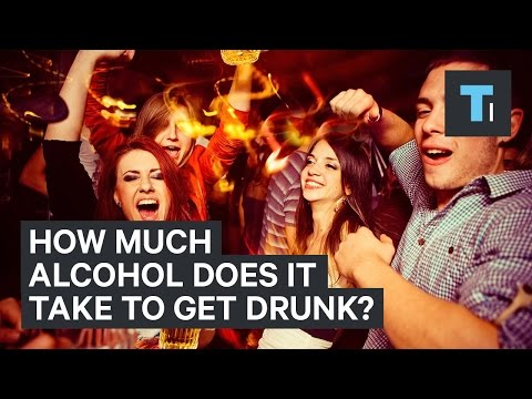 How much alcohol does it take to get drunk?
