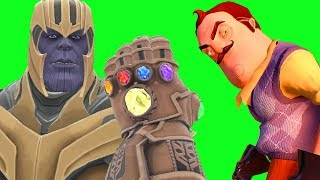 Can Thanos' INFINITY GAUNTLET Kill THE NEIGHBOR from Hello Neighbor in Gmod?