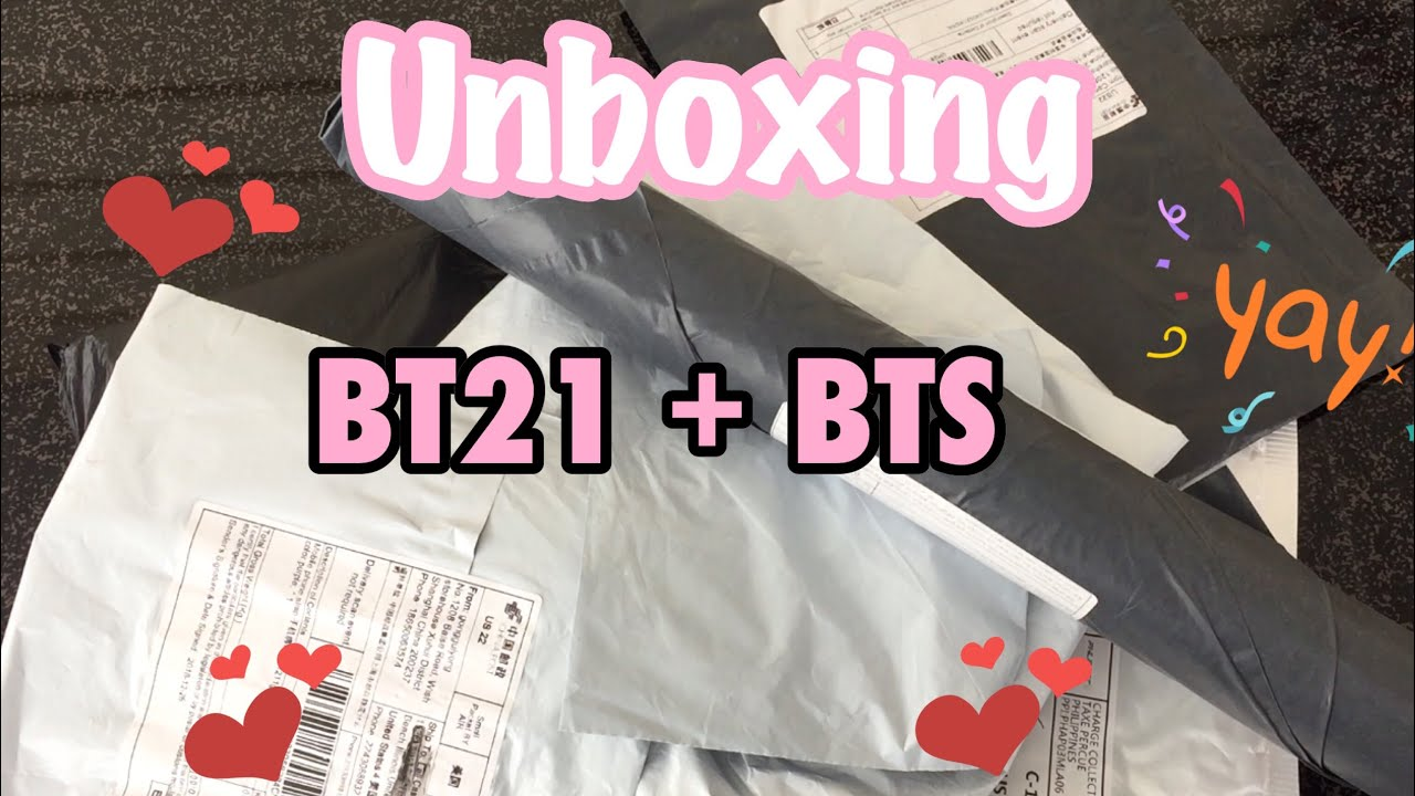 Unboxing Bt21 Bts Merch Unofficial Youtube