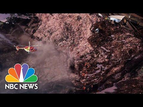 Hundreds Missing In Mud Torrent After Brazil Dam Burst | NBC News Mp3