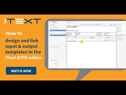 How to design and link input and output templates in the iText DITO Editor