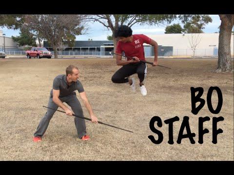 Bo Staff Fight - Amazing 3 Moves!