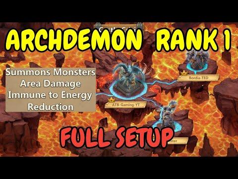 Archdemon L Rank 1 L Full Setup L Castle Clash