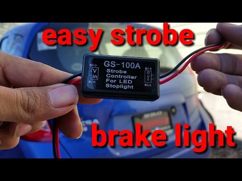 Nissan versa strobe brake light